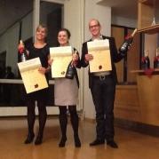 Die glücklichen Gewinner: Tina Küster, Franziska Striepe und Steffen Schöpp